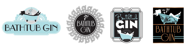 Bathtub Gin Logo Design Exploration