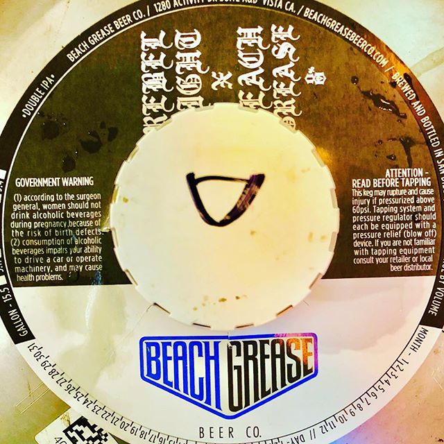 """Welcome @thenammshow Convention! We are kicking this #NAMM weekend off right by tapping a FRESHIE! Feast your eyes on 8%'er! A specialty SOLD OUT collab by @beachgreasebeerco & @rebel8! This rare keg is booming with #Cimcoe #Citra and #Amarillo hops! Bright, citrus forward and clocking in at 8%- This beer screams, """"West Coast""""!!!"""
