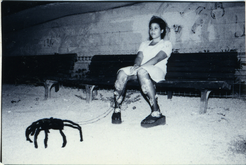 005-girl with spider-sitting-bw-lr.jpg