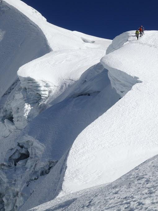 Colin descending Huayna Potosi (20,000ft)