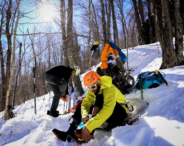 Suiting up in Hoffman Notch