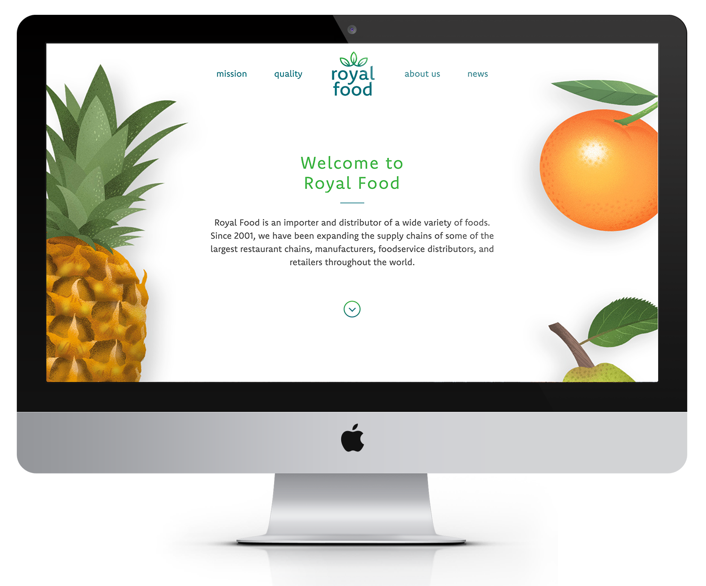 Royal Food Website, Design/Programming by Brooke Porter