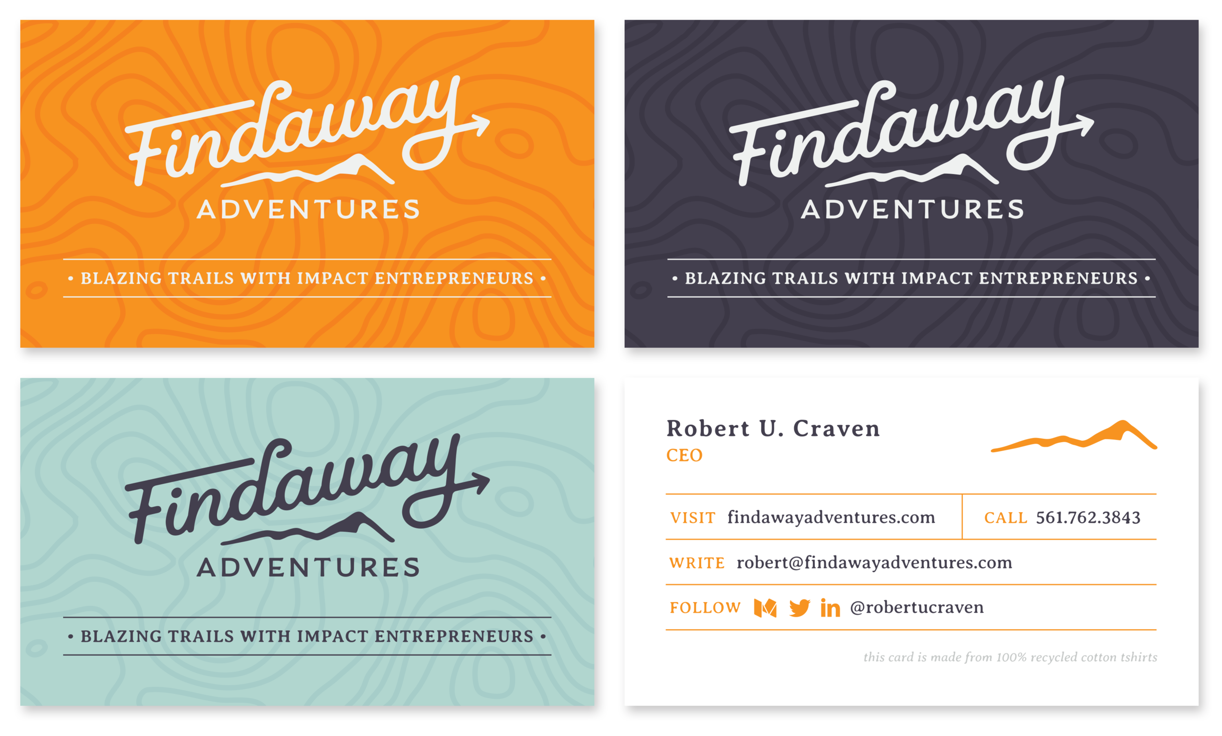 Business Cards, Fronts and Back