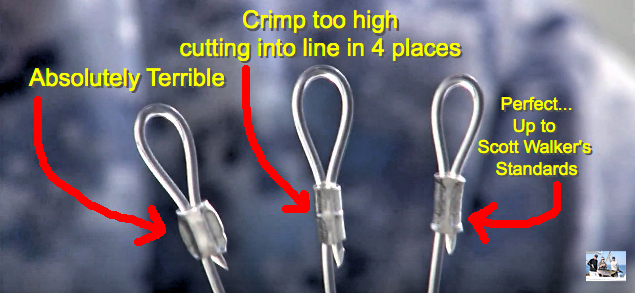 Which one of these does your crimp look like? Watch the video to see how Scott Walker makes perfect crimps every time. So can you by avoiding 2 common mistakes.