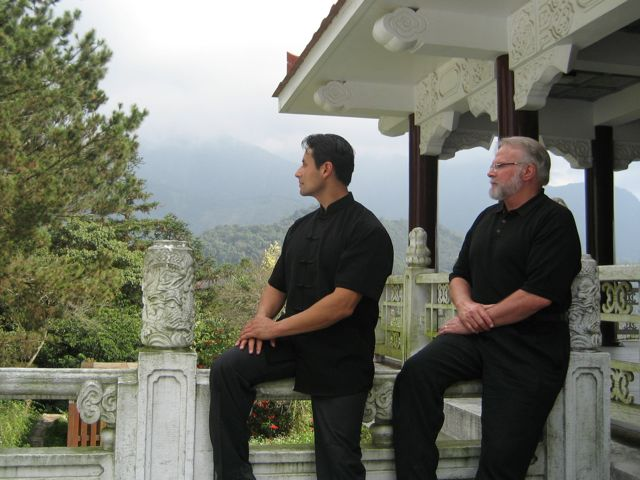 With his teacher, Grandmaster Richard Lee.