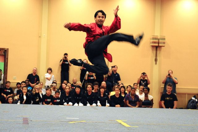 Performing during the Masters demonstration at the International Kuoshu Championships - Baltimore, MD