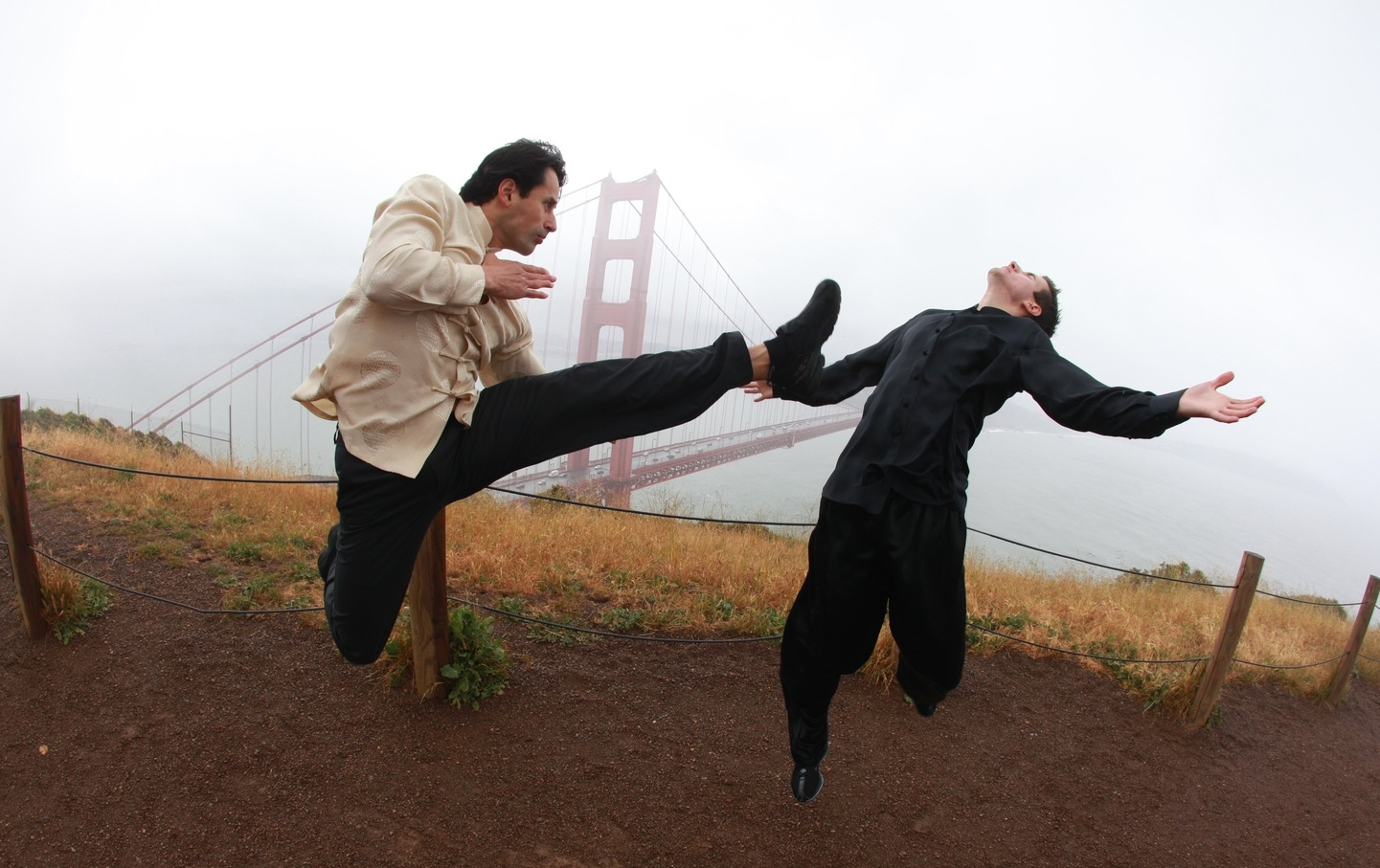 In action in front of the Golden Gate Bridge - San Francisco, CA