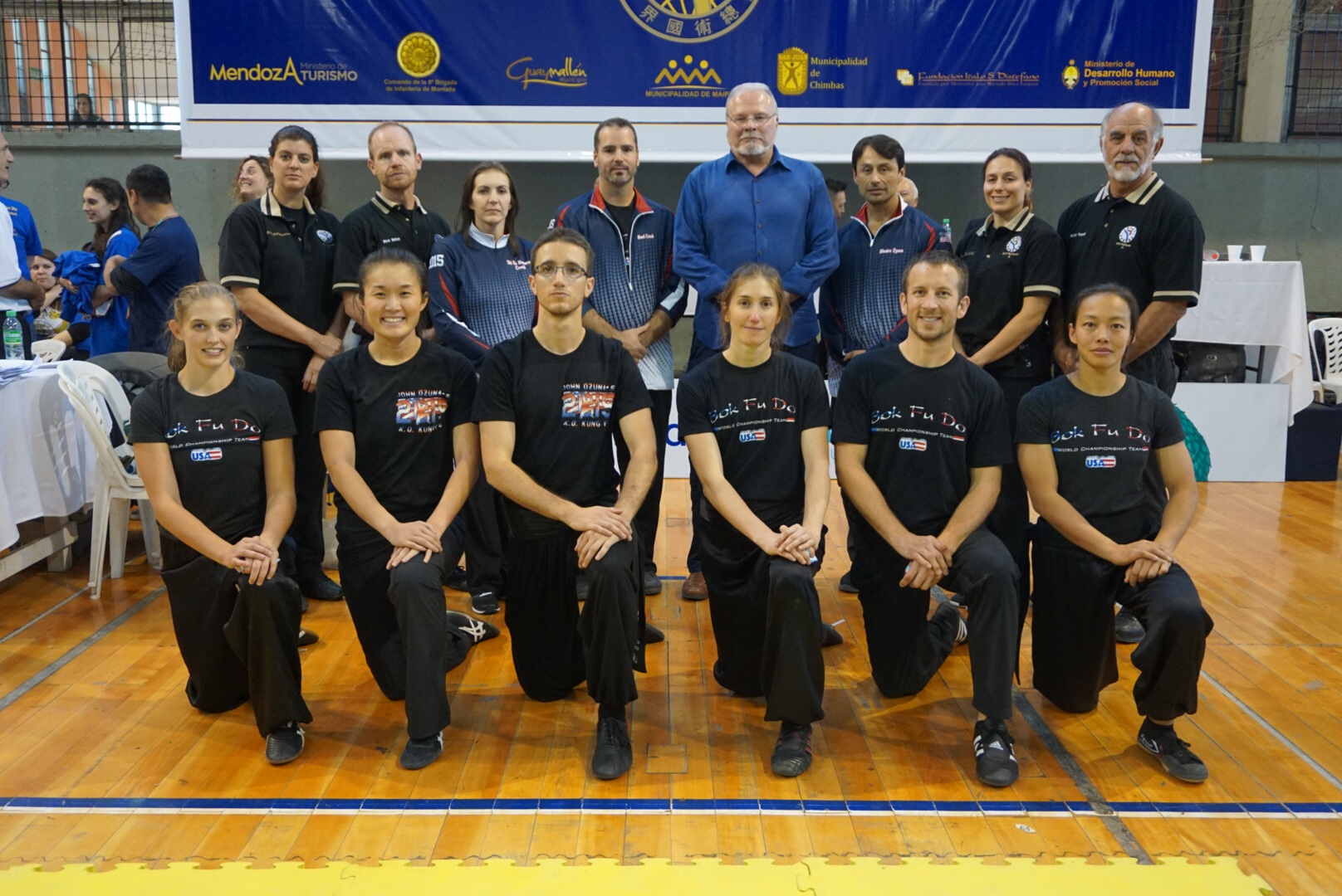 Grandmaster Richard Lee, Master John Buckley,, Master John Ozuna and Master Morgan Newman with the Bok Fu Do Black Belts division (2015)