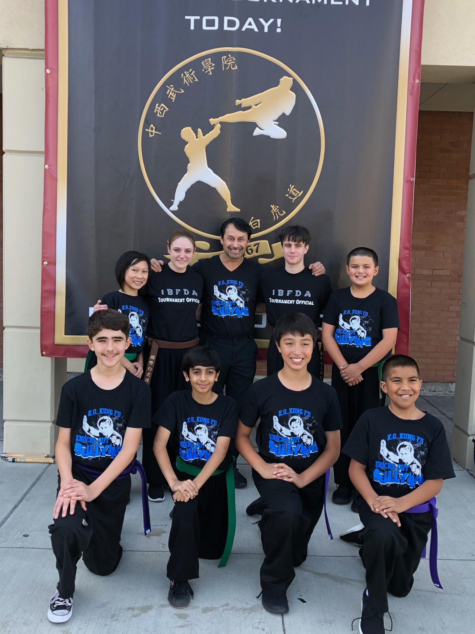 Arav Anand with his Teachers and teammates at the IBFDA Spring Tournament, 2018
