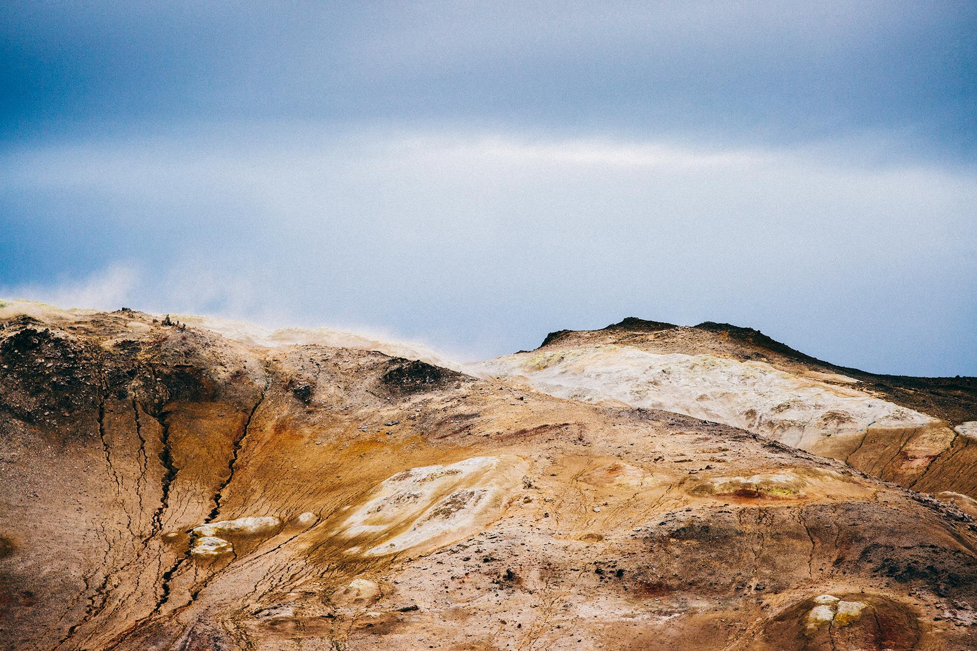 Volcanic landscape near lake Mývatn.