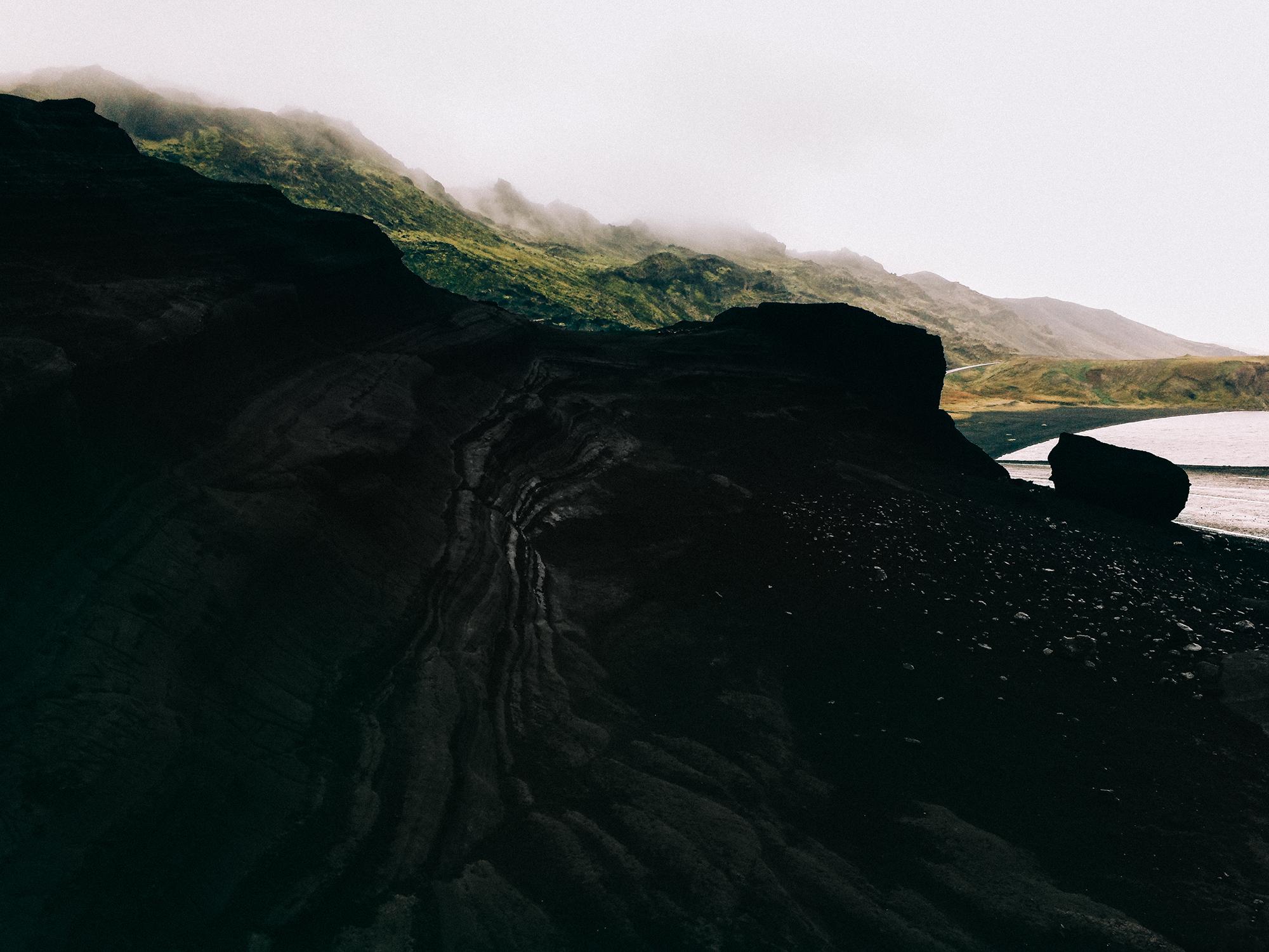 Lava formation in Reykjanesfólkvangur, southwest Iceland.