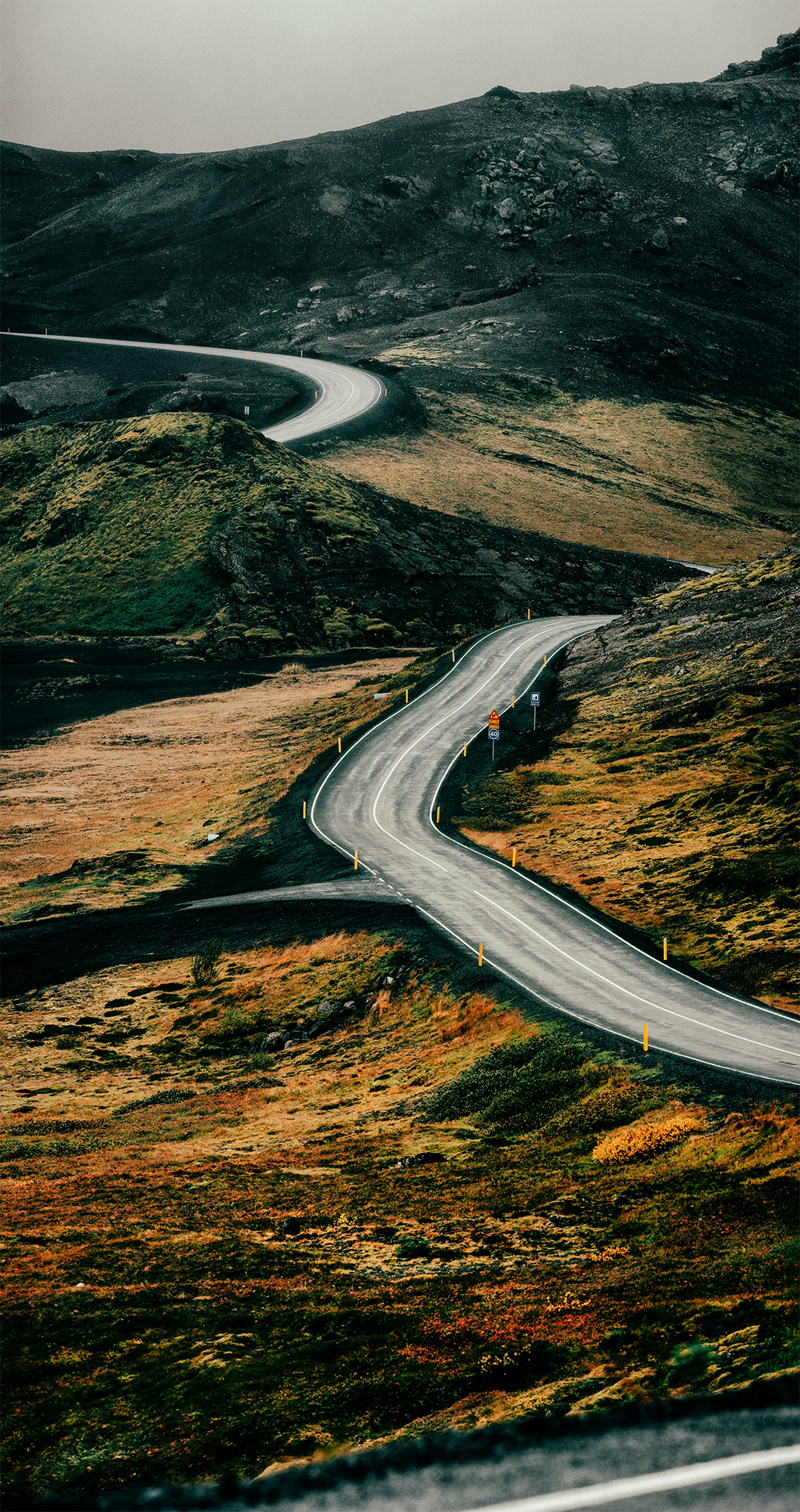 Route 427 near Reykjanesfólkvangur, southwest Iceland.