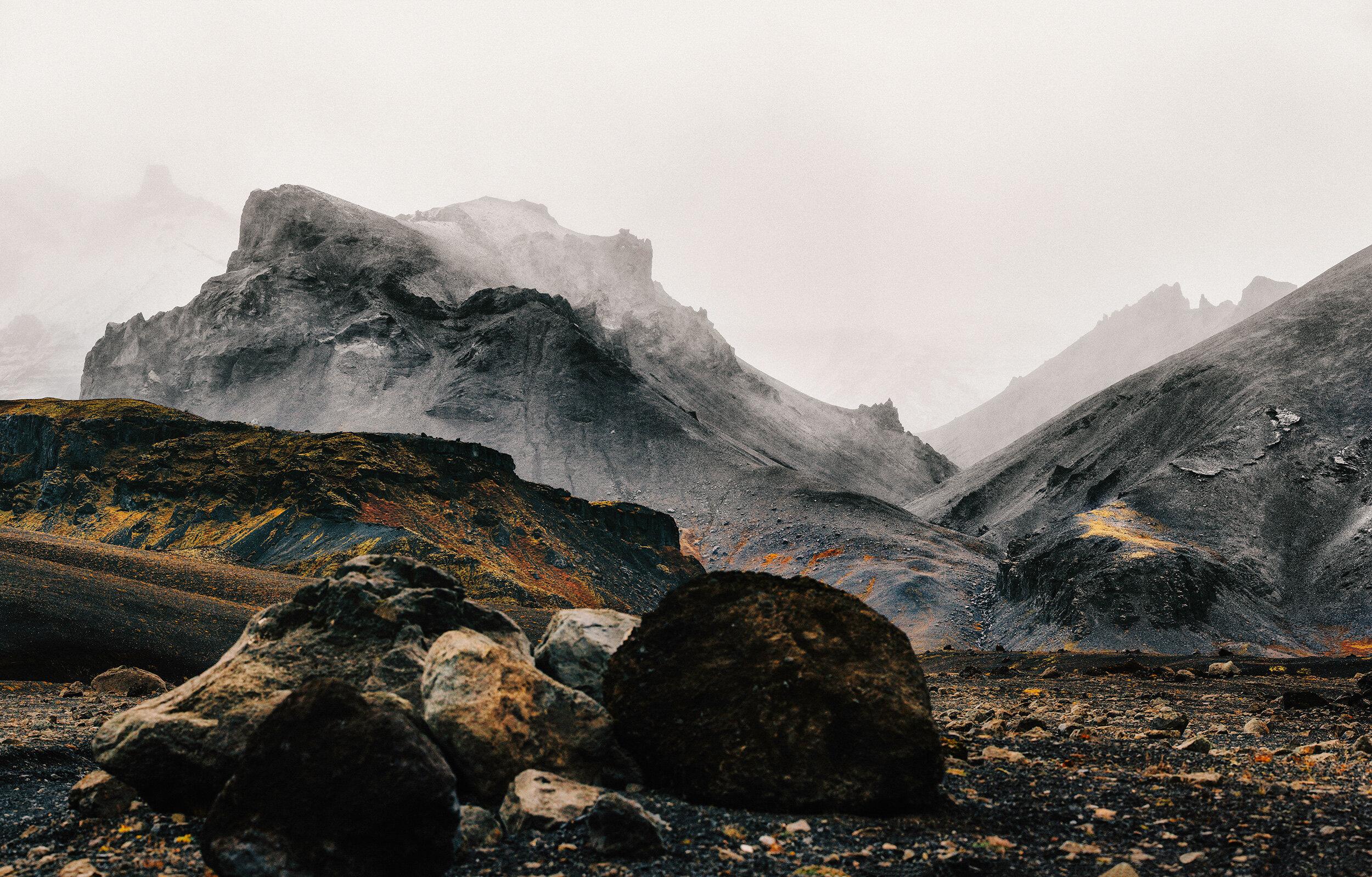 Mysterious volcanic landscape near Hof.
