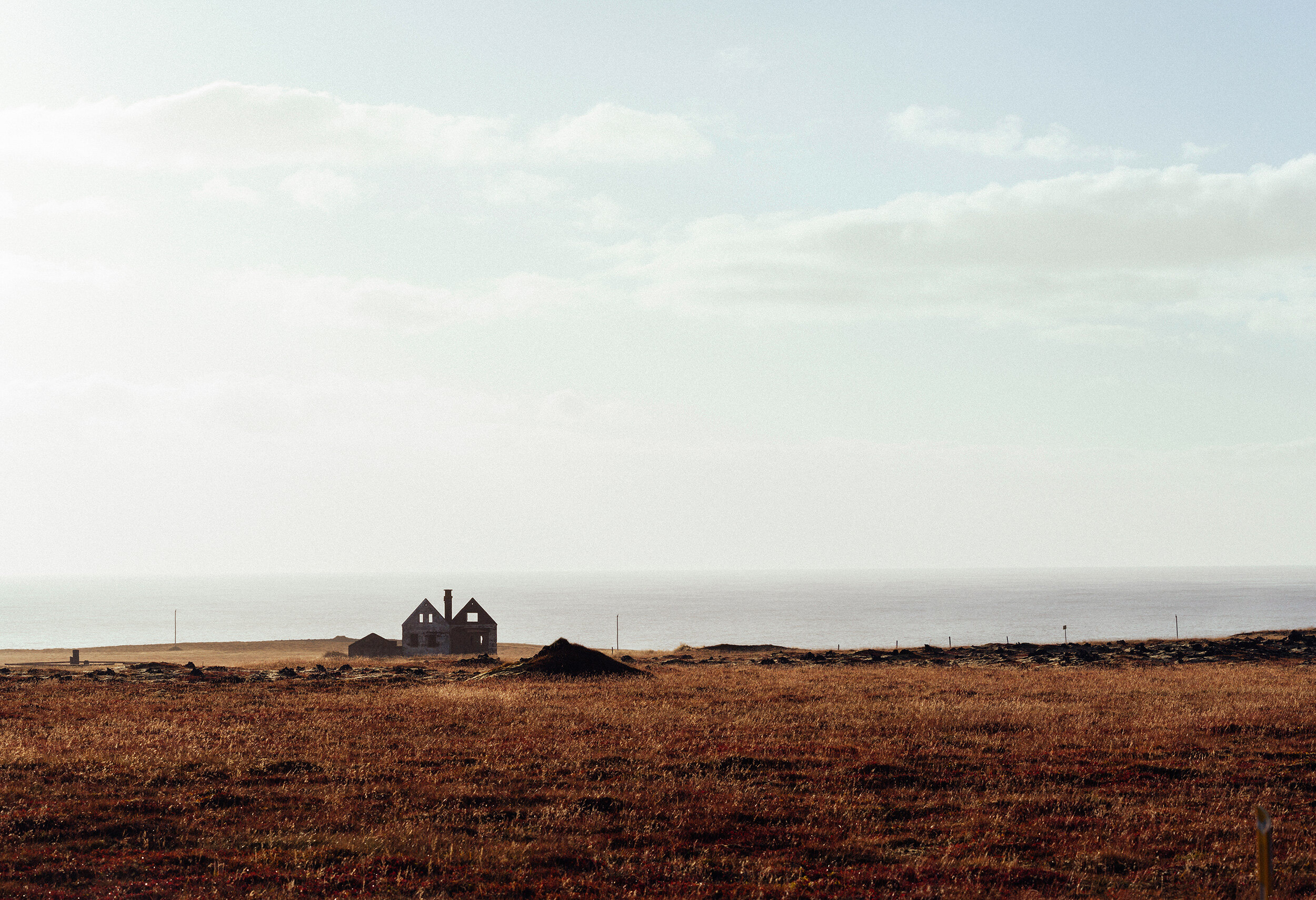 An abandoned house on the coast of Iceland's western region.