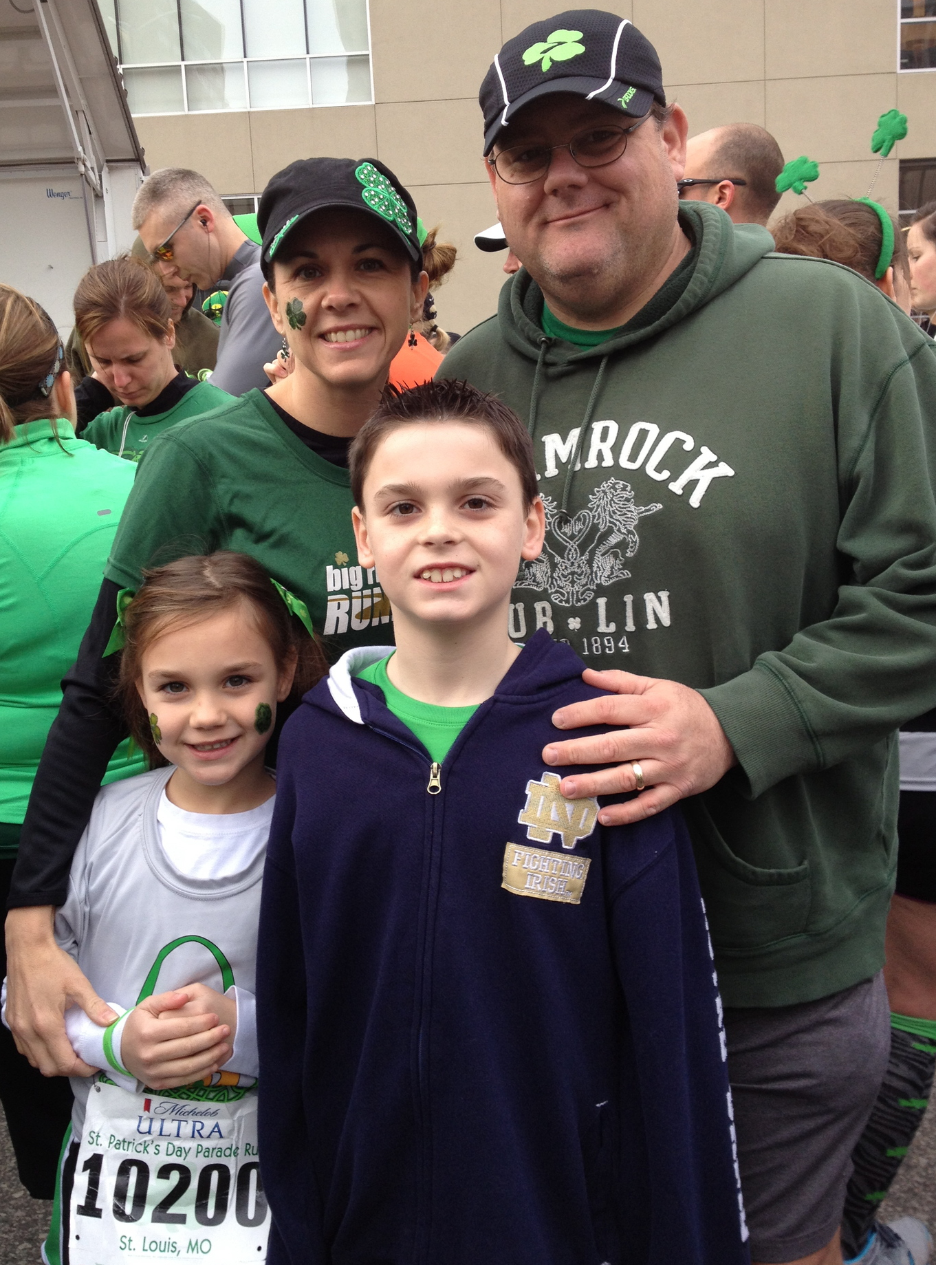 LUCKY  to be me! Downtown 5 mile run, 2012.