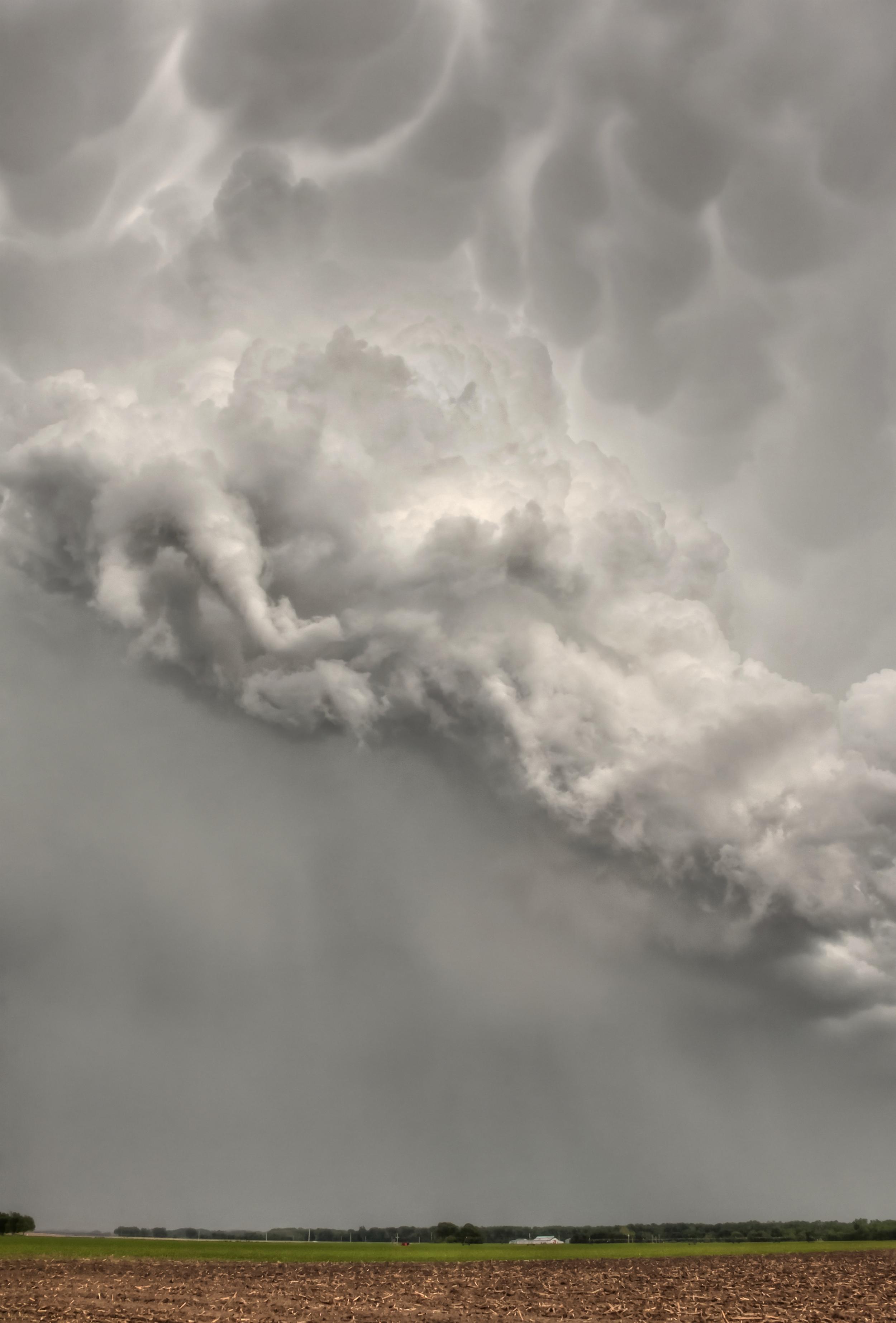 Funnel Cloud near Topeka, Kansas on May 21, 2011