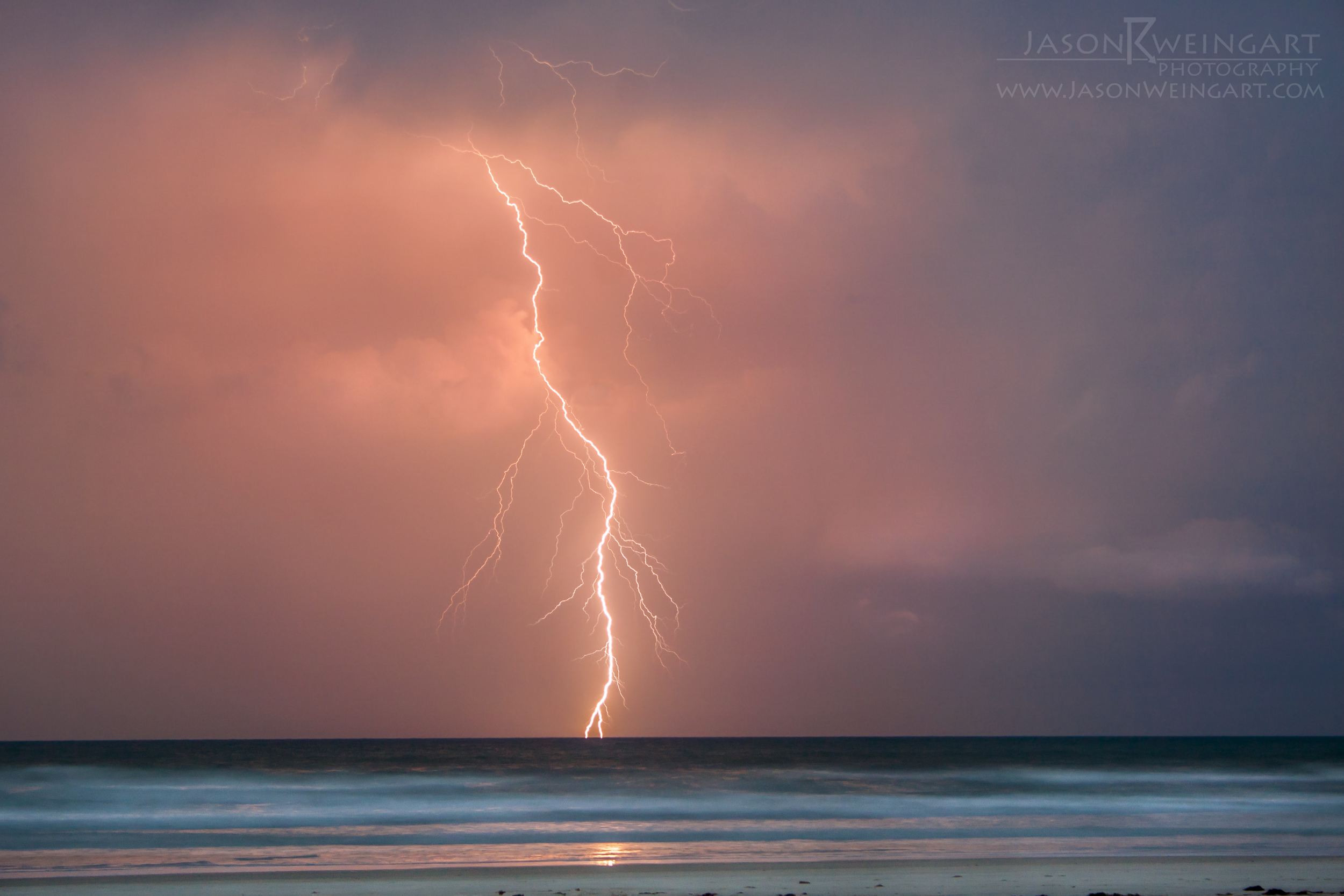 Lightning off the coast of New Smyrna Beach, Florida on May 13, 2011