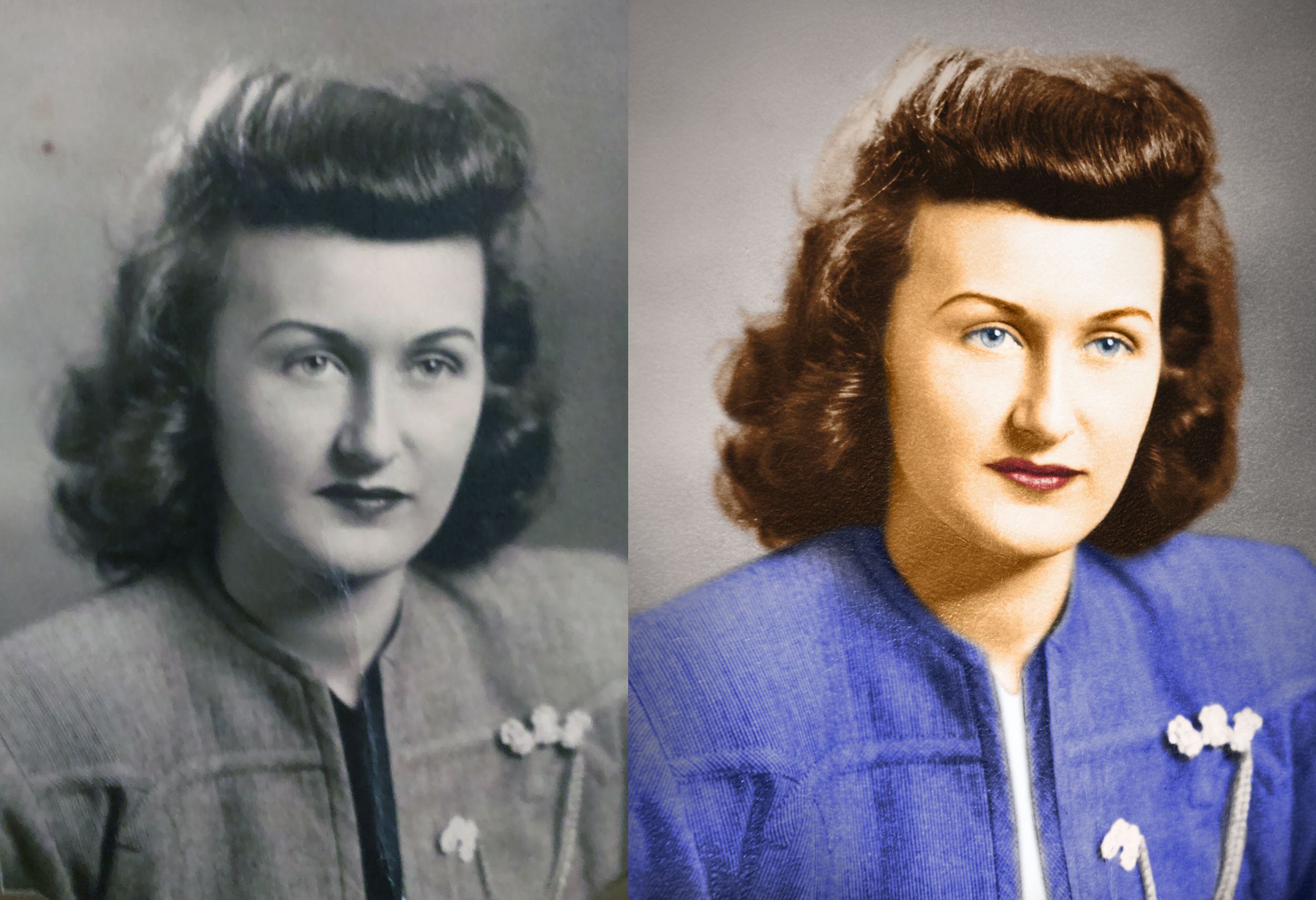 photo picture image print restoration colorization service touch up old color black and white