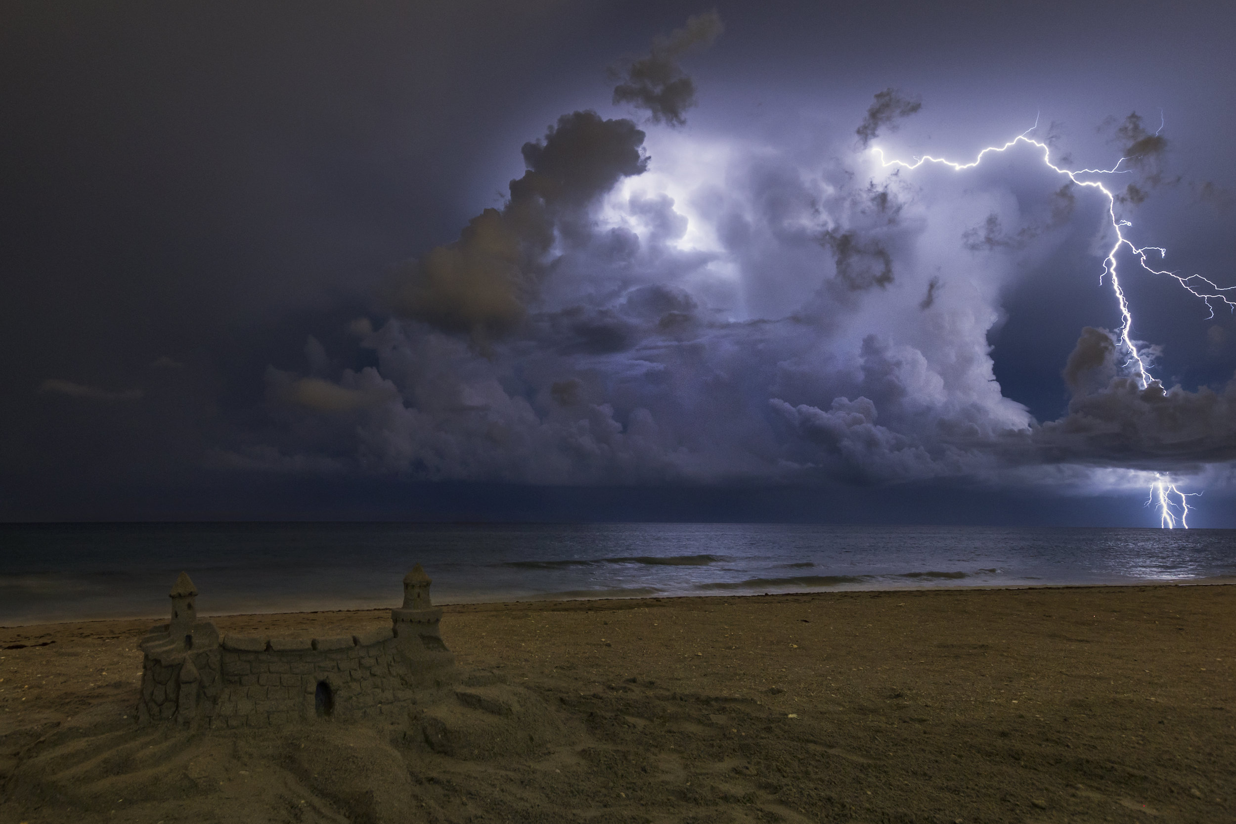 Thunderstorm off the coast of Palm Beach, Florida.