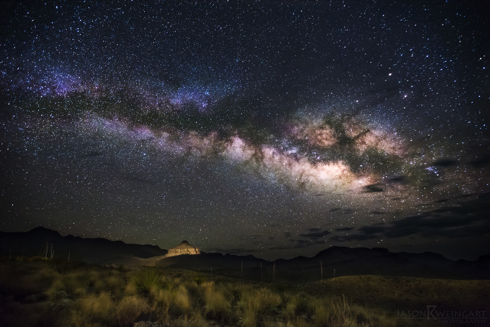 Milky Way rising over Big Bend National Park.