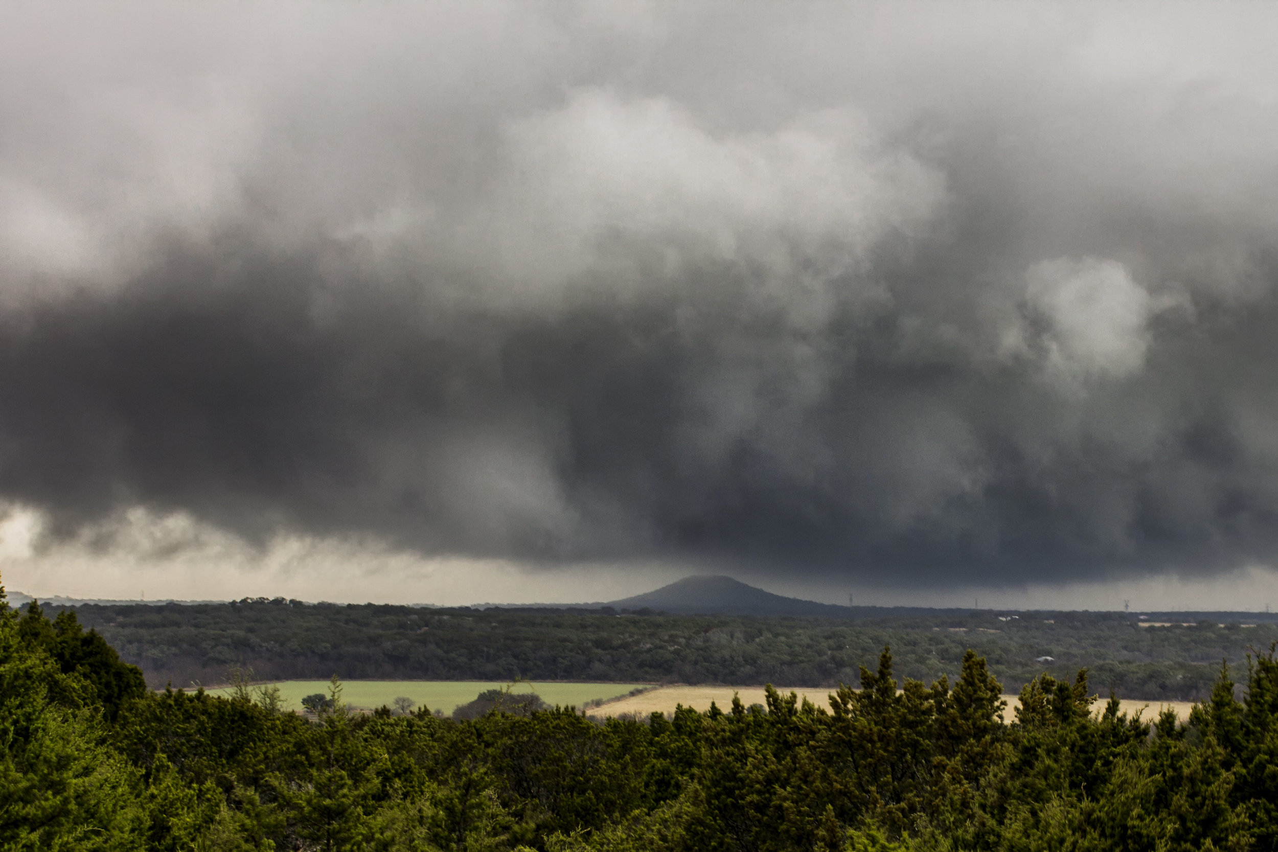 Rotating Thunderstorm Killeen, Texas