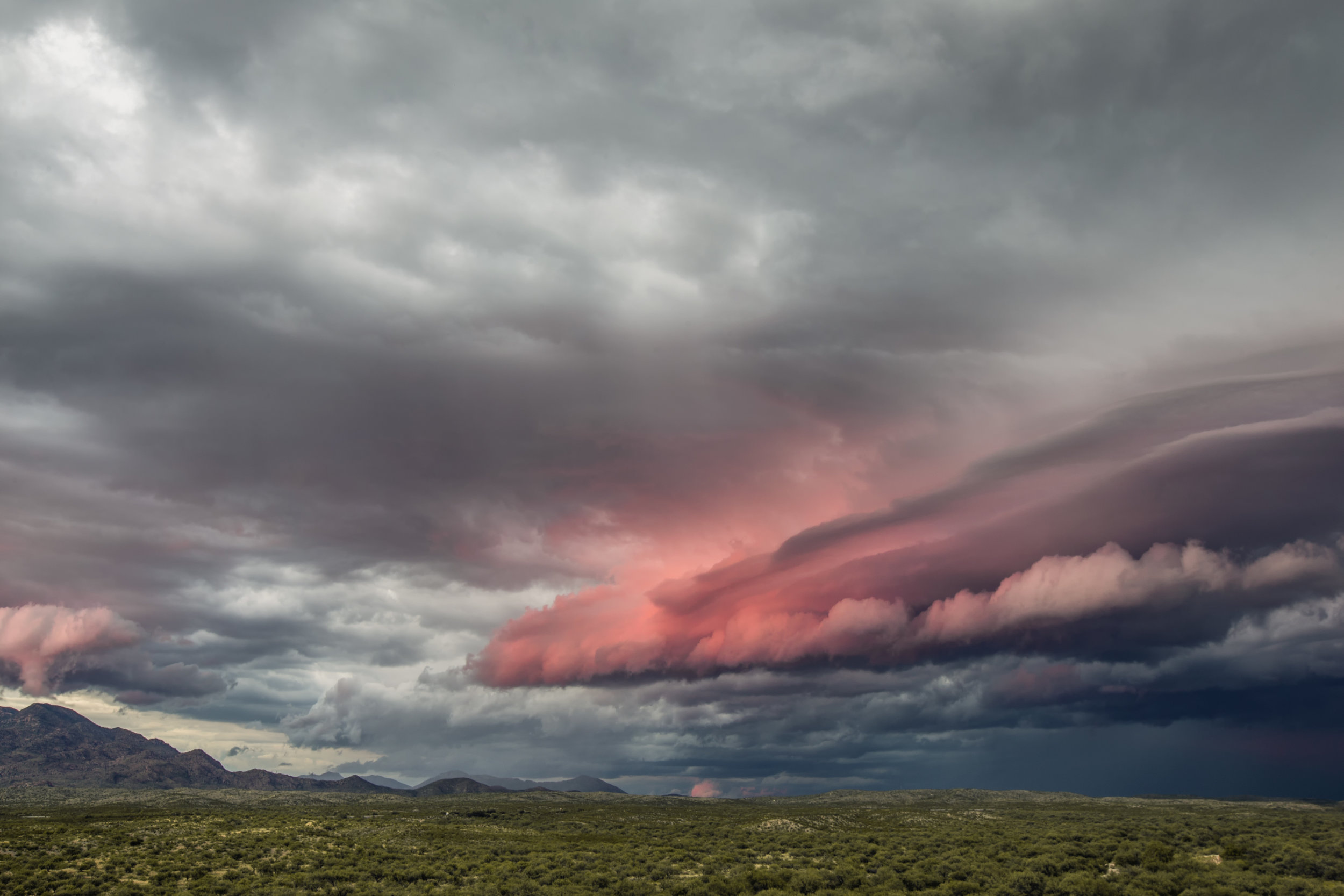 Sunset lit Shelf Cloud - Vail, Arizona July 30, 2017.jpg