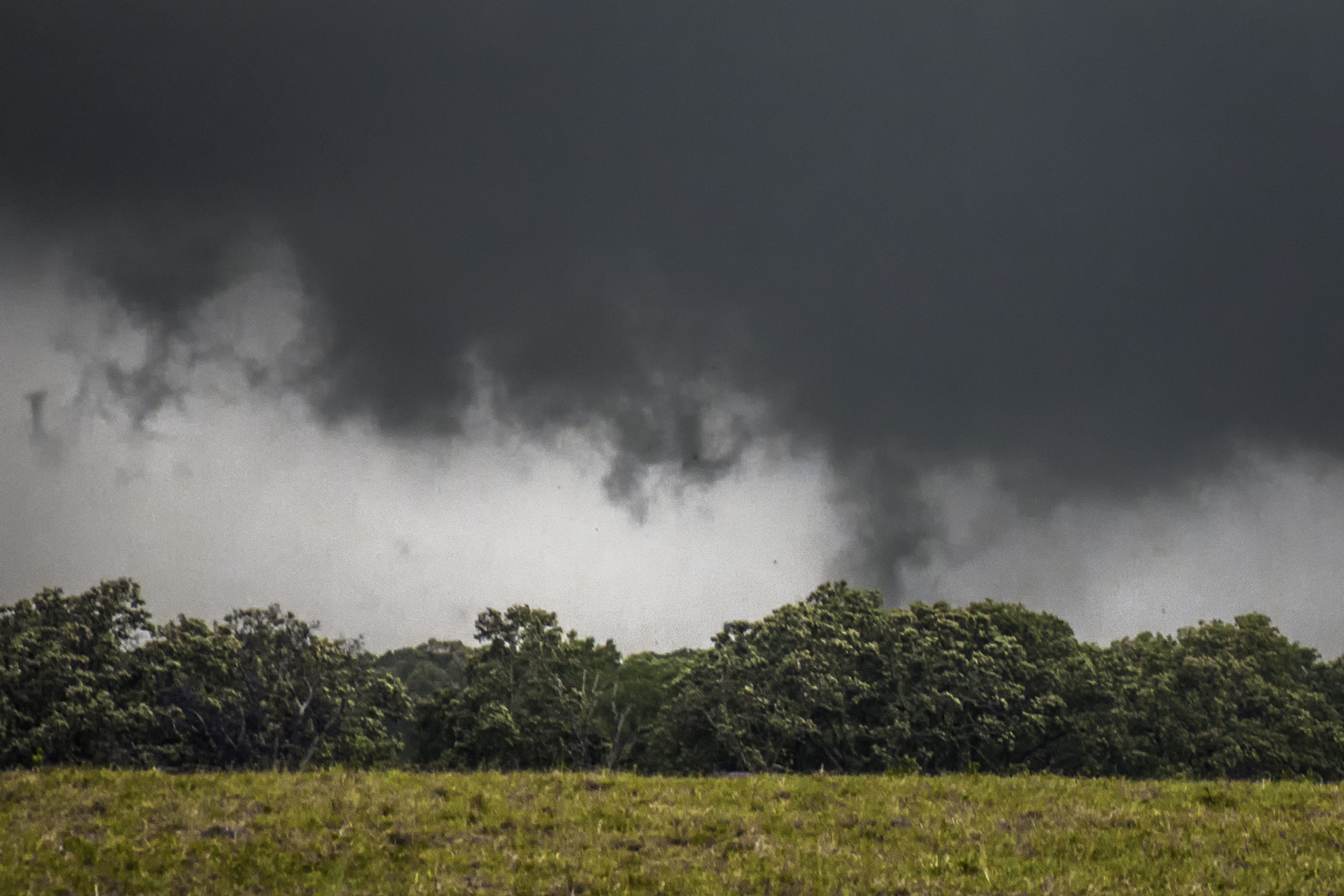 The beginning stages of the EF3 that directly impacted Canton, Texas.