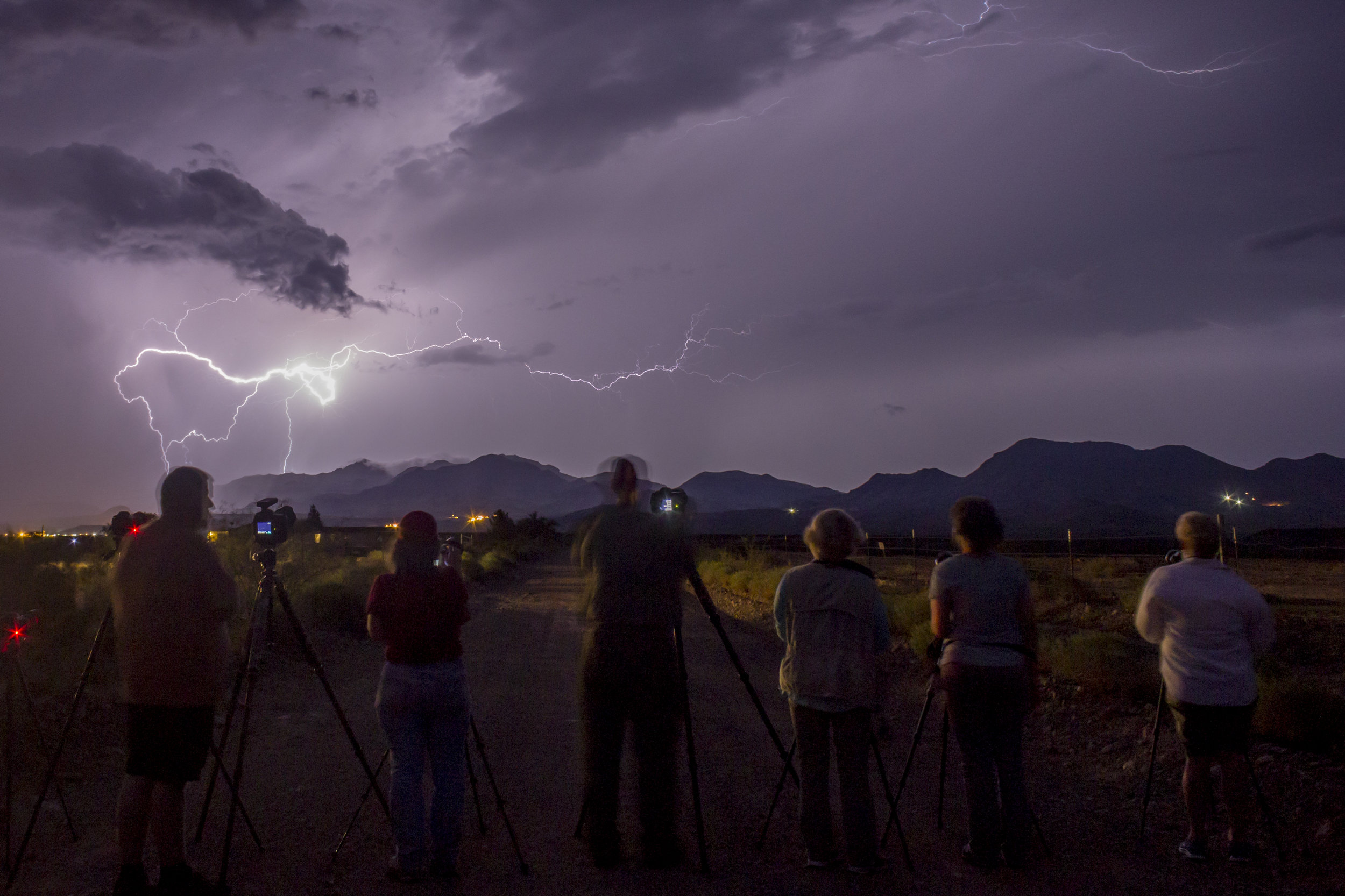 Often monsoon storms last well into the night.