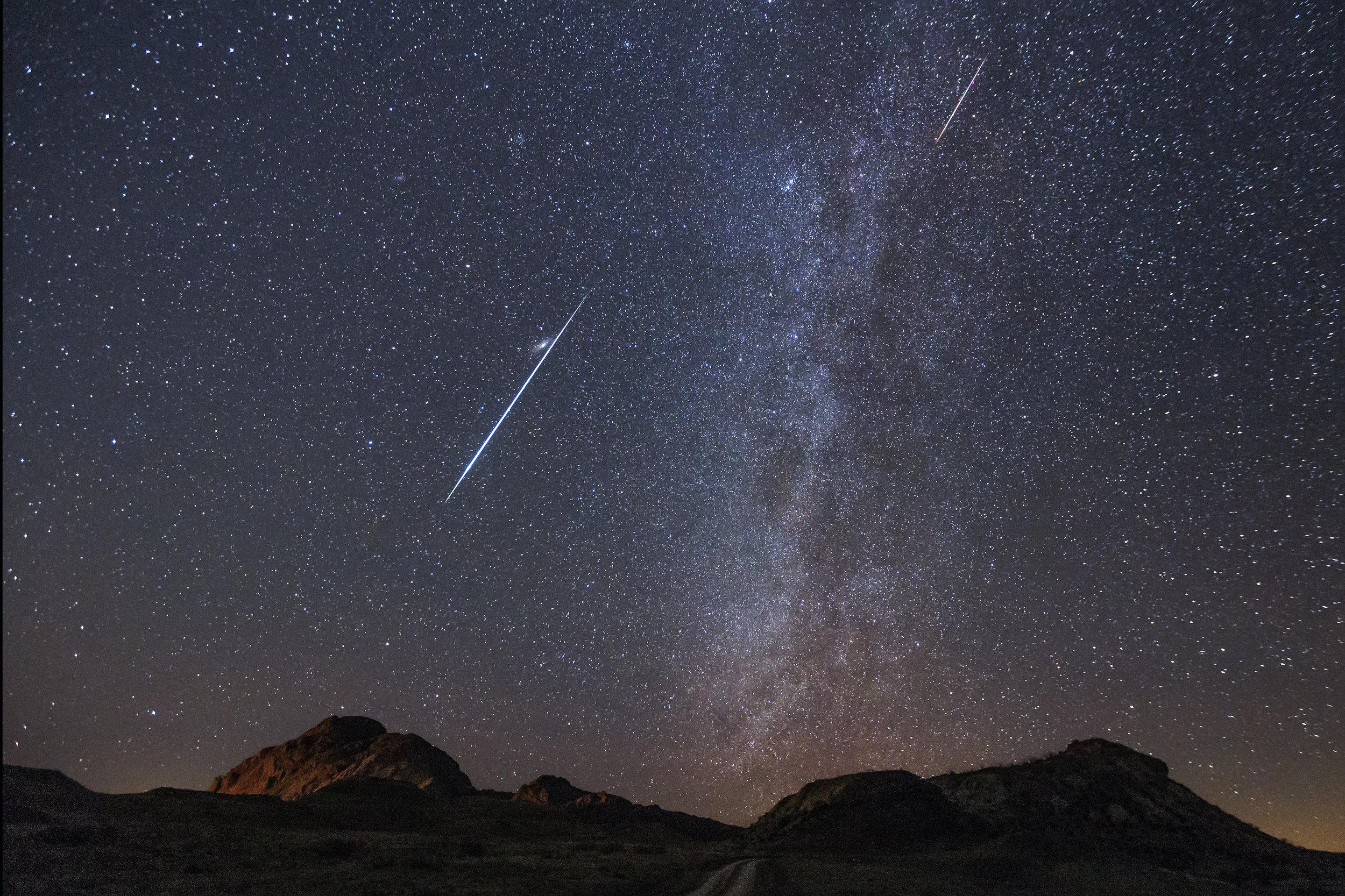 perseid geminid photography meteor shower workshop