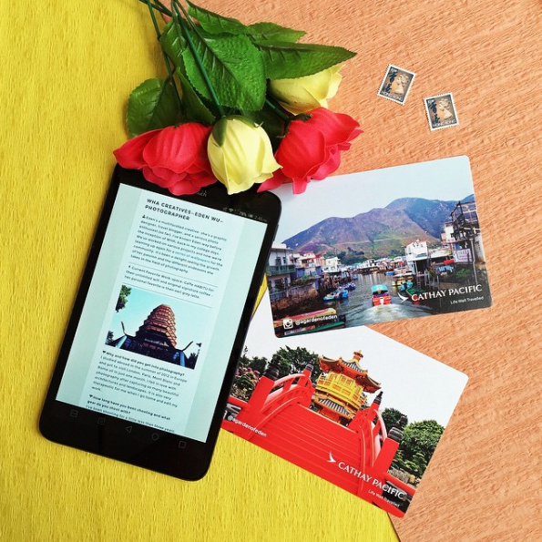 Cathay Pacific Airways #CXBOStoHKG Contest - A photo contest was organized to promote Cathay Pacific's new Boston to Hong Kong route. Selected photos were printed as postcards given to passengers on flights on the new route.