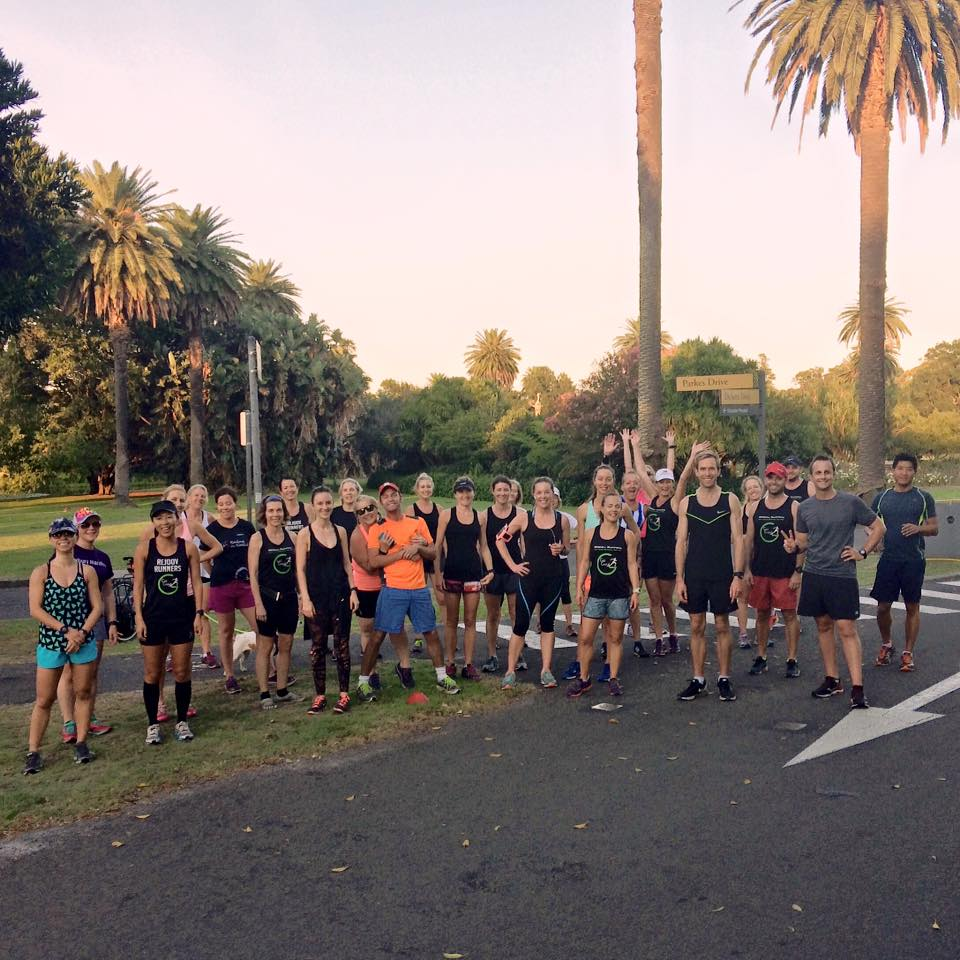 group running session centennial park