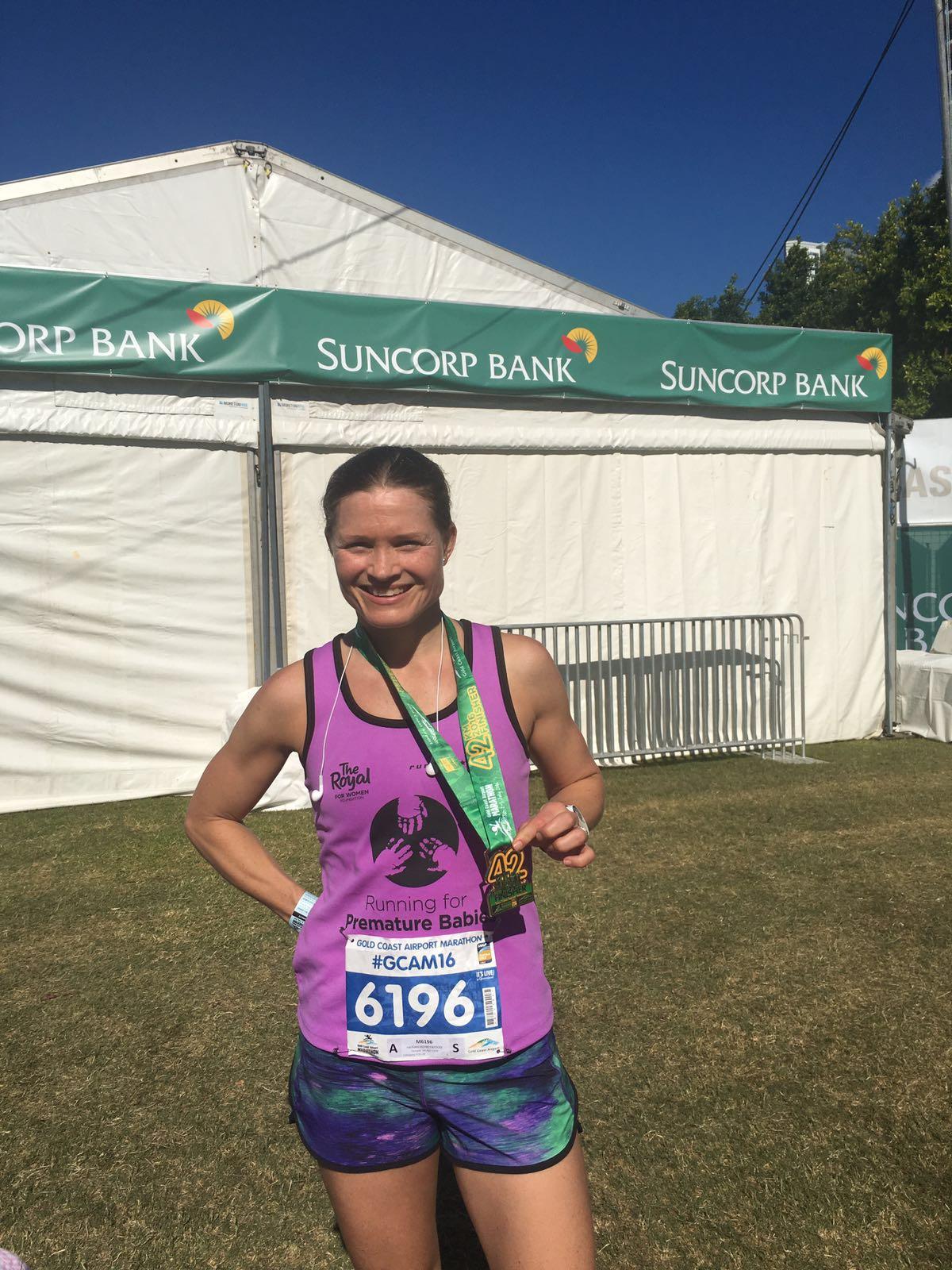 Rachael Honeywood 3.29 marathon - 7min pb