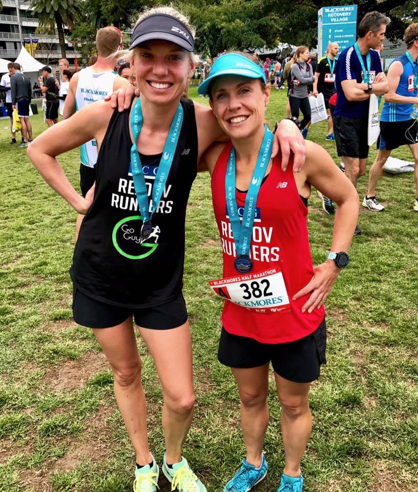 Beck Munro and Maya Borthwick ecstatic with their half marathon pbs!!
