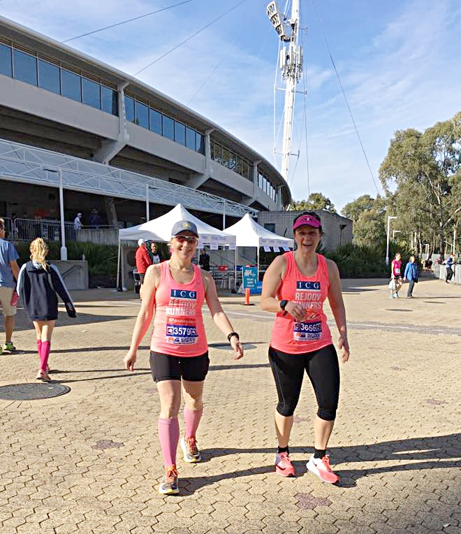 Lesley did the 5k and Monika did the 10k and the 5k - great runs ladies!! Love your fighting spirit!