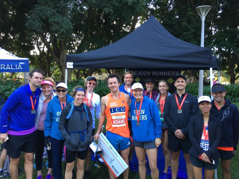 Rejoov sponsor Himanshu Dua ICG far right after the smh half marathon - proudly sponsoring the race winner liam adams. We are all big fans Liam!