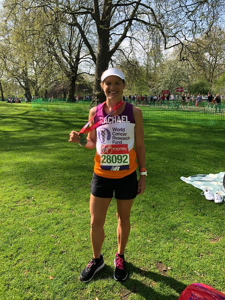 Rachael post-race - congrats Rach!