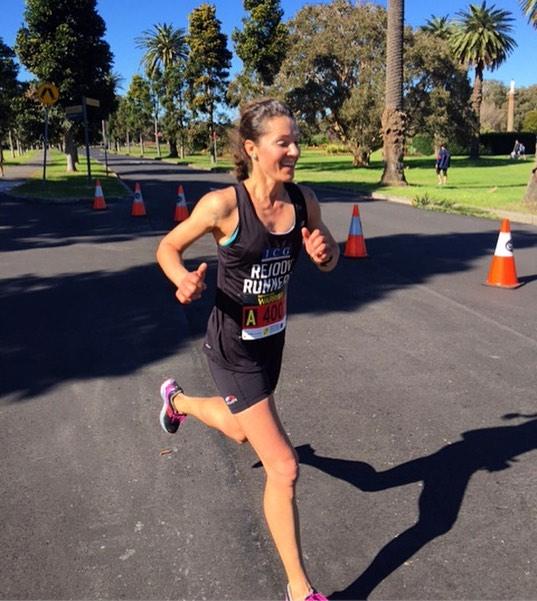 Greta winning the fathers day warrior fun run 10k in centennial park
