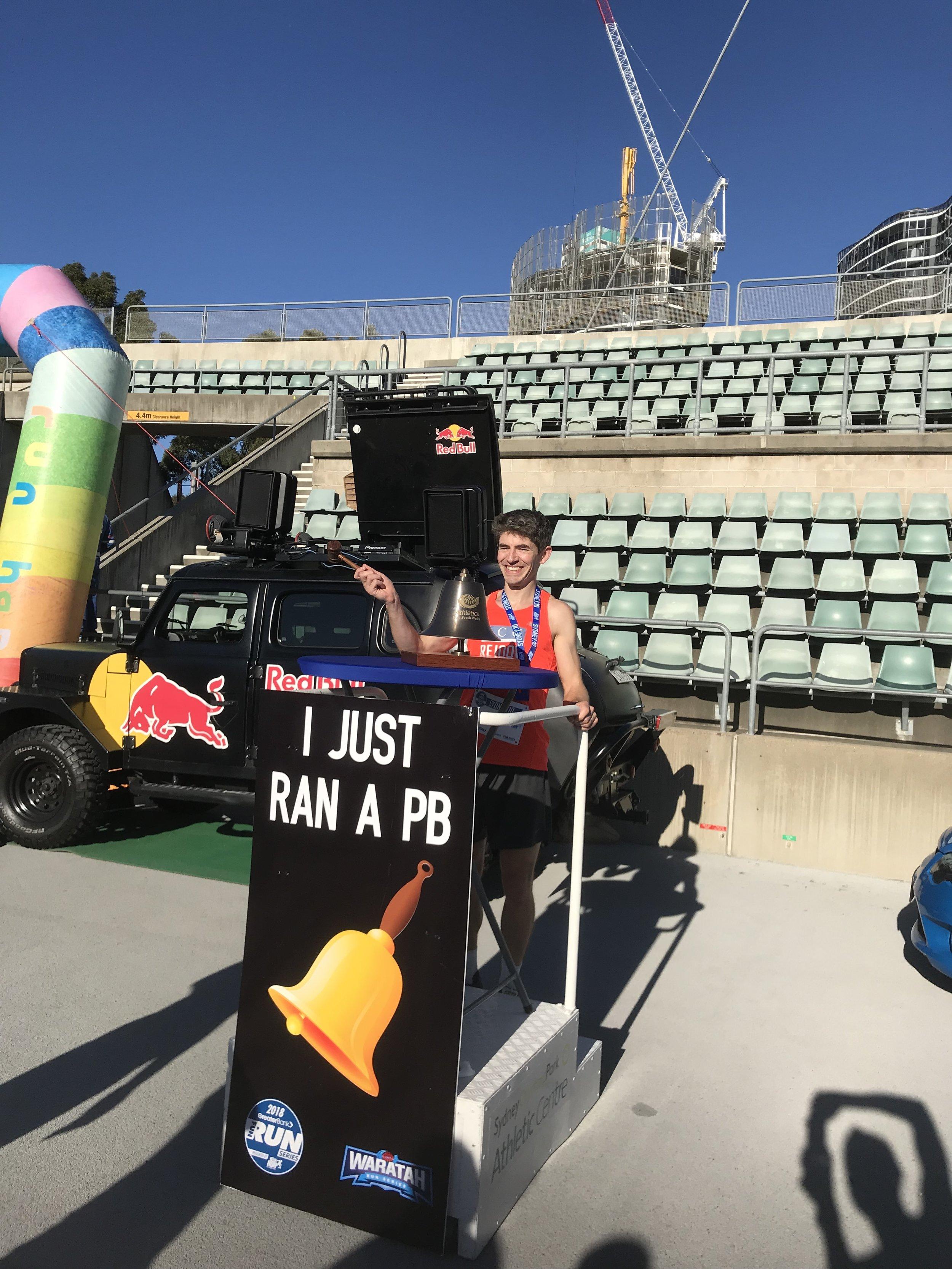 Mark Higgs - 33.35 Sydney 10k 2018 a 2.5min PB