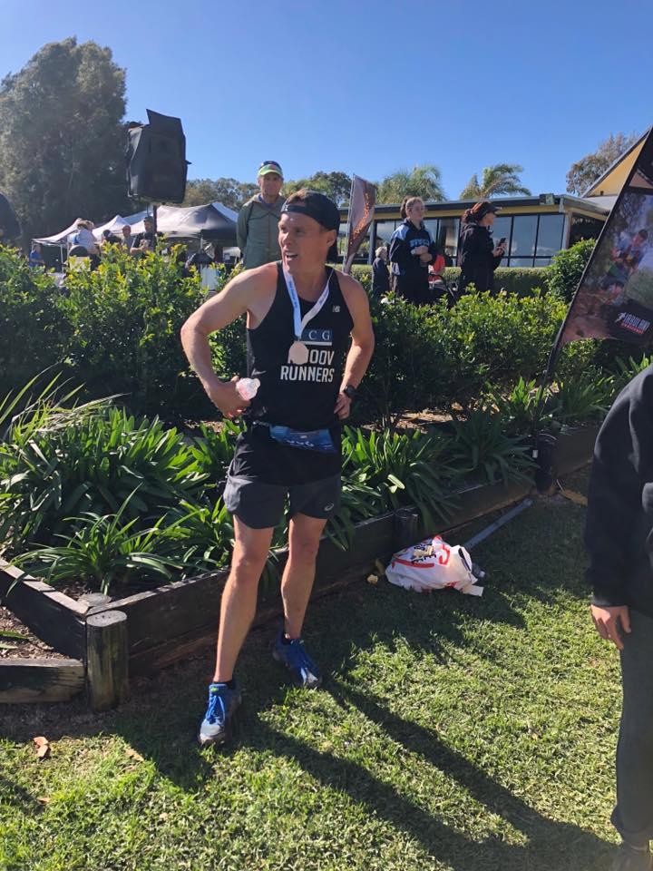 Andy Reid is officially stuffed post race! 36km Rafferties Coastal Run July 2018