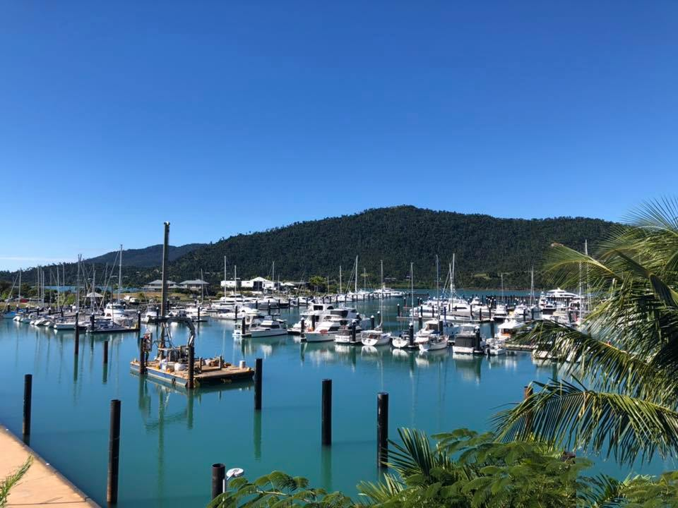 Airlie beach view from our mantra boathouse accommodation