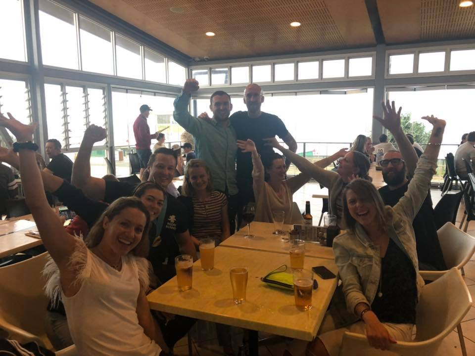 Gold Coast 2019 after party at the South Port Surf Lifesaving club - always fun letting the hair down post race
