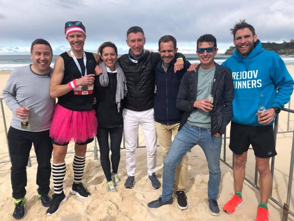 hurt squad kicking back at the allens tent on bondi beach - thanks tom highnam