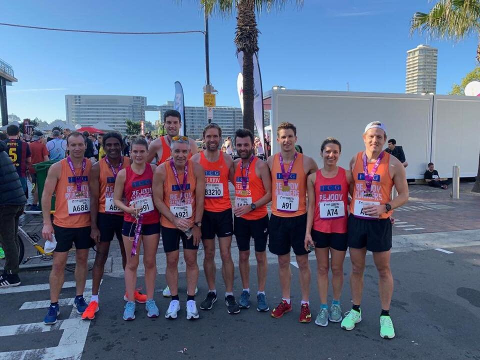 Sydney harbour 10k 2019 post race everyone happy :-) lots of pbs and gutsy runs