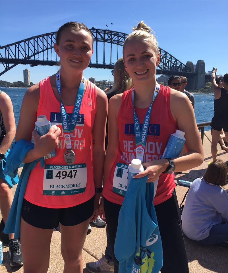 Emily Bassett and Megan Doyle debut marathons - congrats ladies!!