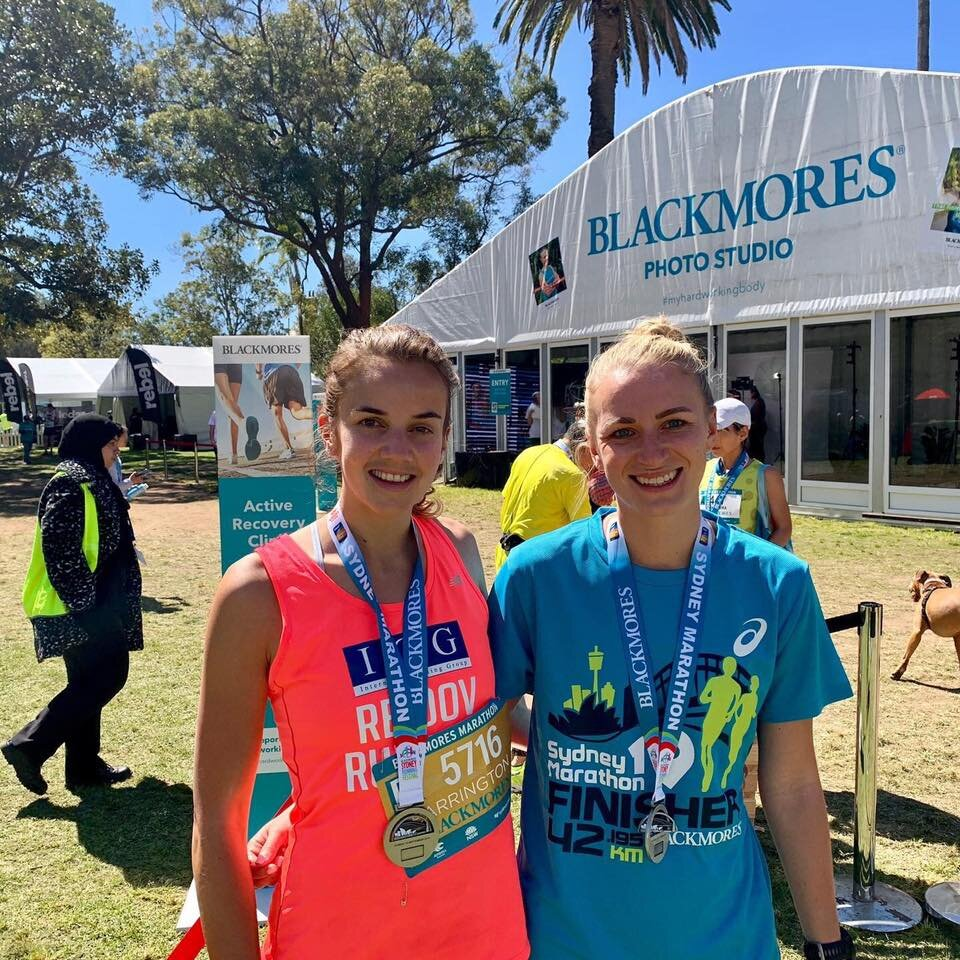 Debut marathons Laura 3.37 and Megs 3.51 awesome!!