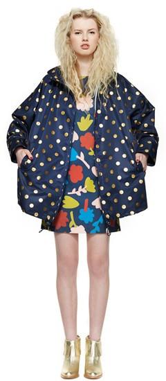 Foil spot raincoat:Botanical dress