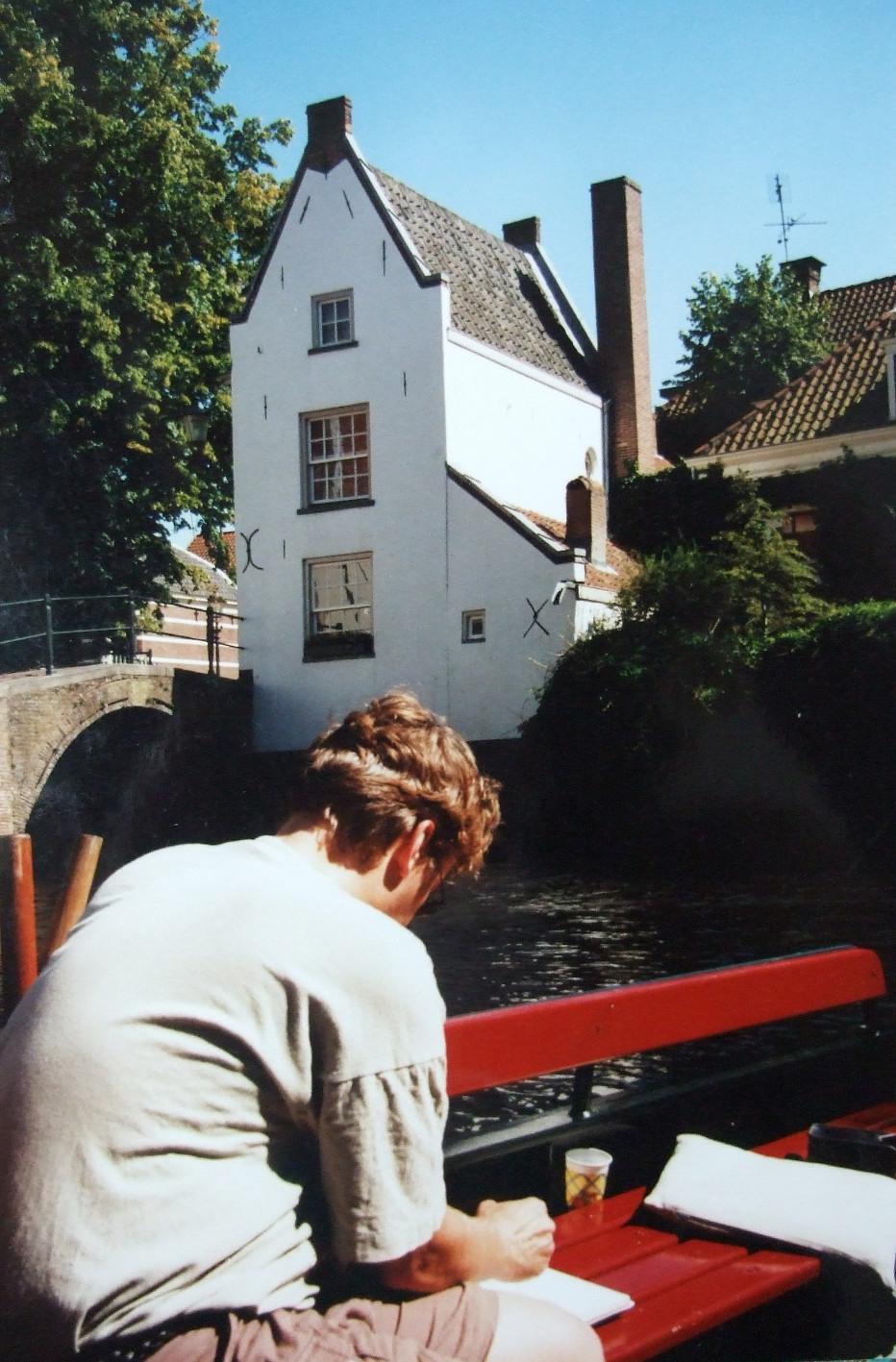 Schetsen in Amersfoort, vanaf de boot