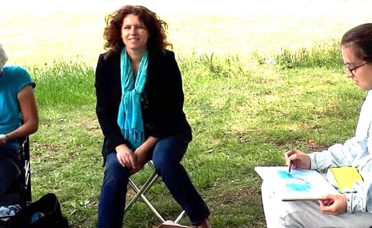 Ikzelf bij de Monnickendam, tijdens de workshop