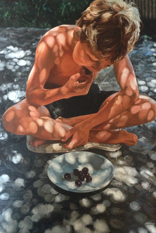 'Dappled Son 2' Oils on linen - 50.5cm x 73.5cm