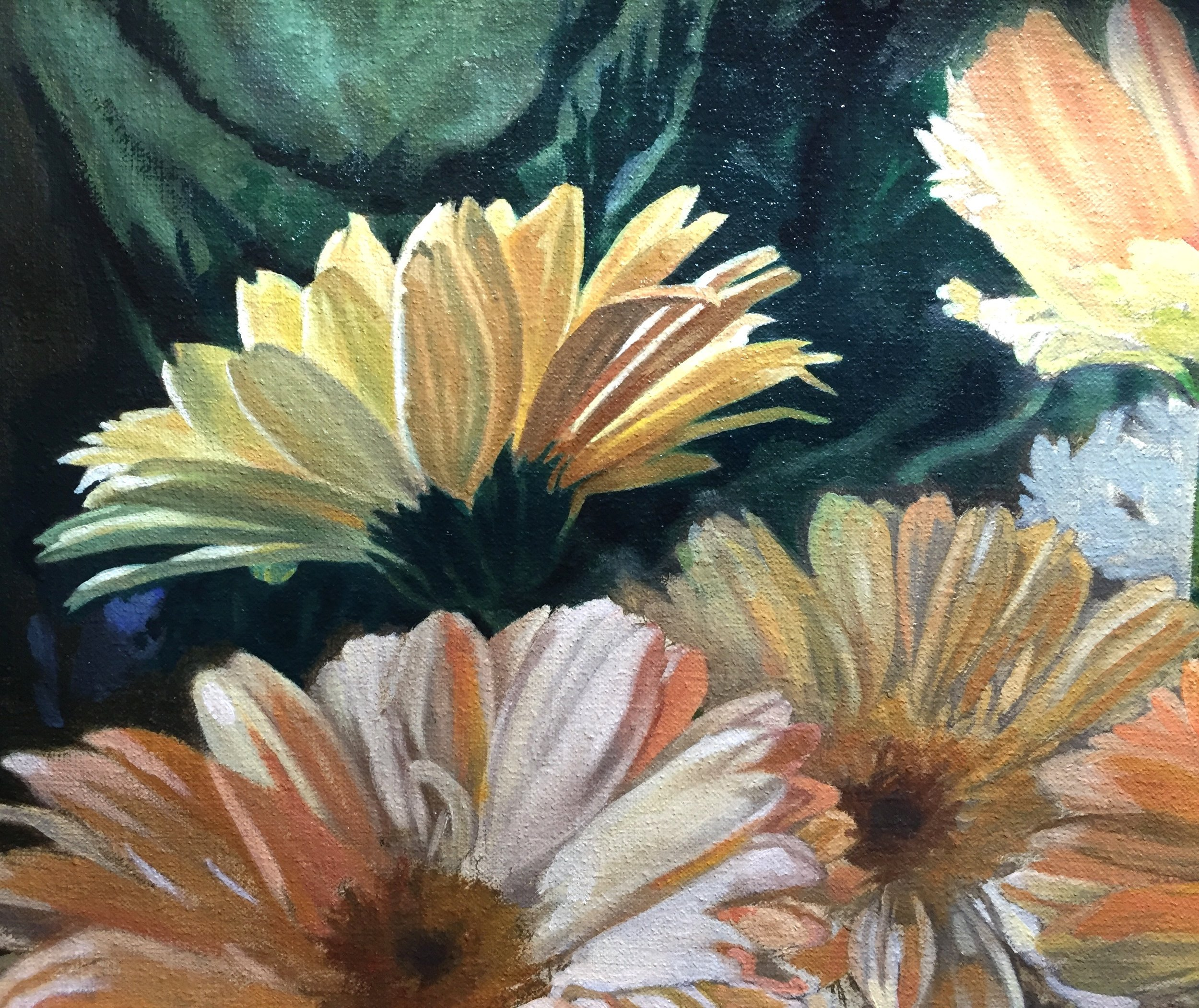 Second layer on the first daisy